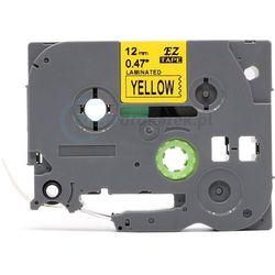 Taśma do brother tze-631 żółte tło/czarny nadruk 12mm x 8m zamiennik