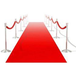 vidaXL Czerwony dywan 1 x 5 m Extra gęsty 400 g/m2 Darmowa wysyłka i zwroty