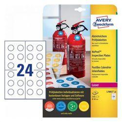 Avery zweckform Etykiety inspekcyjne - zabezpieczające NoPeel, średnica 30mm, okrągłe, do drukarki, 240 sztuk