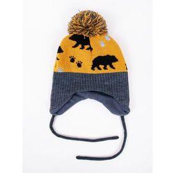 Czapka zimowa dziecięca LITTLE BEAR wiązana 38-40
