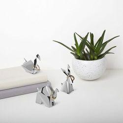 Umbra - stojak na biżuterię origami - 3 szt - chrom