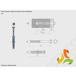 KKX 10/6x80 kołek rozporowy z łbem sześciokątnym (100szt)