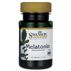 Swanson Melatonina - 3000mcg (3mg) - (60 kap)