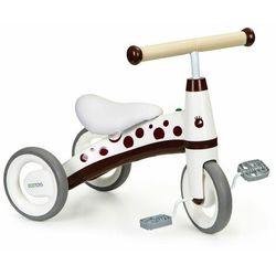 Rowerek trójkołowy z pedałami, mini rower dla dziecka, bordowy