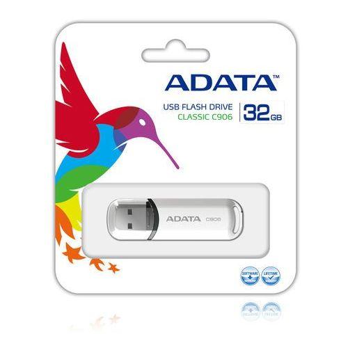 Flashdrive, Pendrive A-Data C906 32GB Biały Darmowy odbiór w 16 miastach!