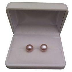 Kolczyki z sino-różowymi perłami 10-10,5 mm PK08-C