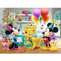 Puzzle, Puzzle Mickey a Minnie slaví narozeniny Disney 27x20cm 30 dílků v krabičce 21x14x4cm