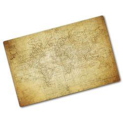 Deska kuchenna szklana Stara mapa świata