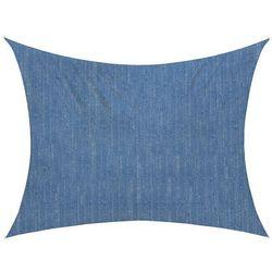 Żagiel przeciwsłoneczny, prostokątny, z tkaniny oddychającej, lazurowy, 400x300 cm