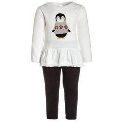 Carter's GIRL PENGUIN PEPLUM BABY SET Sweter ivory
