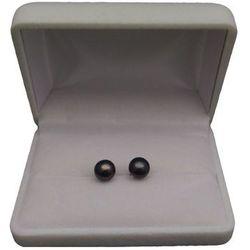 Kolczyki z czarnymi perłami 8-8,5 mm PK05-E