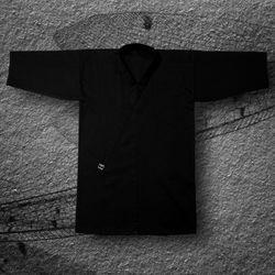 kimono do iaido TONBO - HEAVY, czarne (szt.jedwab-poliester)