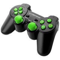 """Gamepady, Gamepad PC USB Esperanza """"Warrior"""" czarno/zielony"""