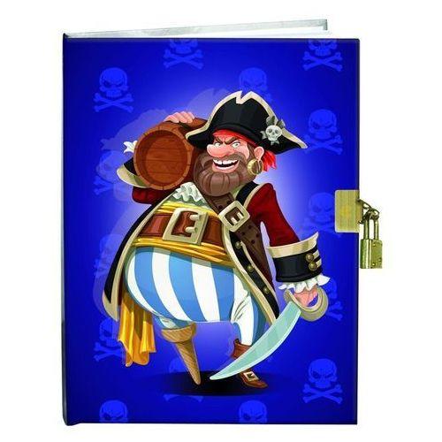Pamiętniki, Pamiętnik z kłódką 13x18cm Pirat