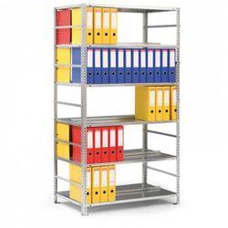 Regał na segregatory COMPACT, 8 półek, 2550x750x600 mm, szary, dodatkowy