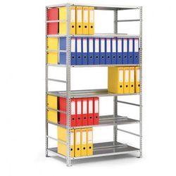 Regał na segregatory COMPACT, szary, 6 półek, 1850x1000x600 mm, podstawowy