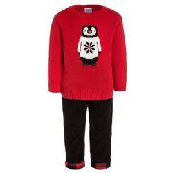 Carter's BOY PENGUIN PLAID TRIM PANT BABY SET Sweter red