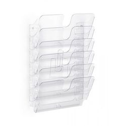 Zestaw sześciu poziomych pojemników Durable FLEXIPLUS A4 przezroczysty 170001440
