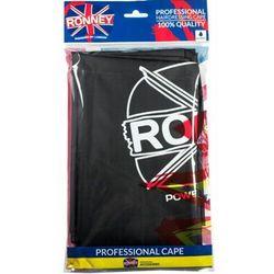 Ronney CAPE WATERPROOF BLACK Peleryna fryzjerska wodoodporna (czarna)