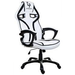 Fotel biurowy GIOSEDIO biało-czarny,model GPR024