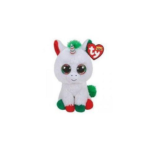 Pluszaki zwierzątka, Beanie Boos - Jednorożec Candy Cane 15cm