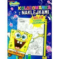 Kolorowanki, Sponge Bob. Kolorowanka z naklejkami - Praca Zbiorowa
