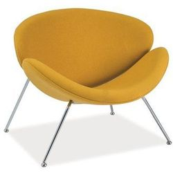 Nowoczesny fotel MAJOR yellow