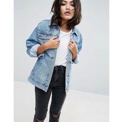 ASOS DESIGN denim girlfriend jacket in stonewash blue - Blue