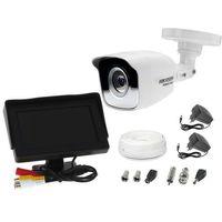 """Zestawy monitoringowe, Zestaw do monitoringu kamera HWT-B110 tuba tubowa monitor 4,3"""" zasilacz przewód podgląd na monitorze"""