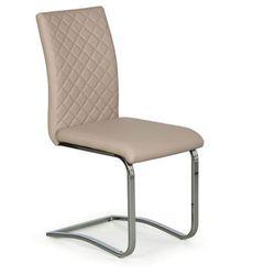 Krzesło konferencyjne, kuchenne skórzane RITZ, opakowanie 4 szt., beżowa