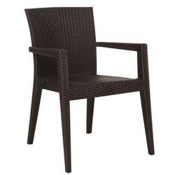 Krzesło do ogródków piwnych | brązowe | 600x570x(H)850 mm