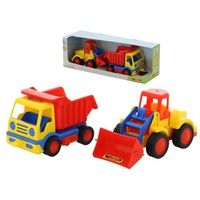 Traktory dla dzieci, Polesie Wader 42101 Wywrotka + Traktor ładowarka Basics