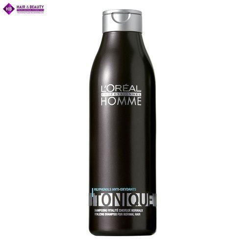 Mycie włosów, L'Oréal Professionnel Homme Tonique - Revitalising Shampoo For Normal Hair (250ml)