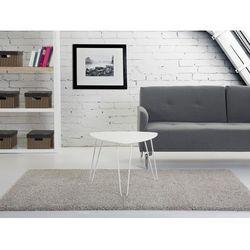 Nowoczesny stolik kawowy 60x45 cm - ława - stół, biały - LILY