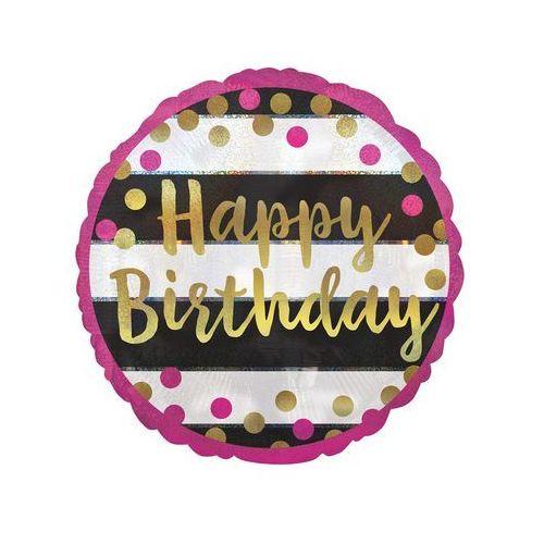 Pozostałe wyposażenie domu, Balon foliowy Happy Birthday - 43 cm - 1 szt.
