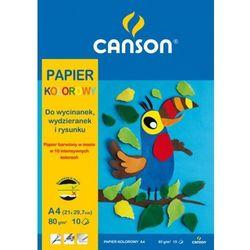 Blok z papierem kolorowym Canson A4/10k. 80g