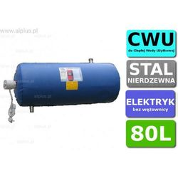 Bojler elektryczny nierdzewny CHEŁCHOWSKI 80L Poziomy, z grzałką 2kW lub inną do wyboru, 80 litrów, bez wężownicy, Wysyłka gratis
