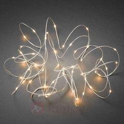 Łańcuch świetlny Klara z LED, kabel biały, 50-pkt.
