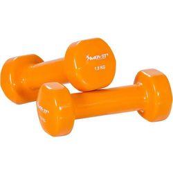MOVIT® ZESTAW 2x HANTLE WINYLOWE 1,5 KG CIĘŻARKI - 2x 1,5kg pomarańczowy