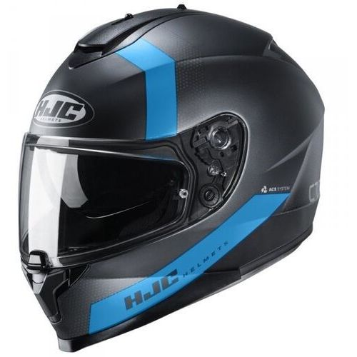 Kaski motocyklowe, Hjc kask integralny c70 eura black/blue