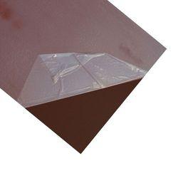 Blacha płaska 1250 x 2000 mm brązowa foliowana