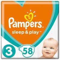 Pieluchy jednorazowe, Pampers Pieluchy Sleep & Play 3 Midi Economy (6-10 kg) 174 szt. (3x58 szt.)