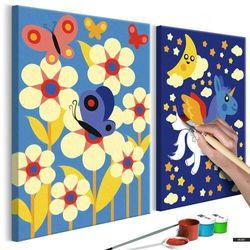 SELSEY Zestaw do malowania Motyl i jednorożec