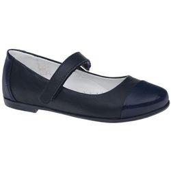 Balerinki granatowe buty KORNECKI 4679 Lakierki - Granatowy ||Kobaltowy ||Niebieski