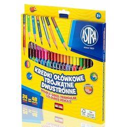Kredki ołówkowe dwustronne trójkątne 24 = 48 kolorów
