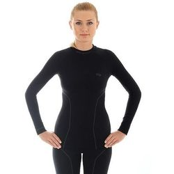 Bluzka damska z długim rękawem Brubeck Thermo LS10670 - czarny