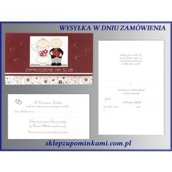 Zaproszenia na Ślub Ślubne Karnet lomplet