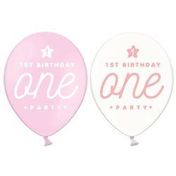 Balon z nadrukiem dla dziewczynki 1st Birthday One Party - 30 cm - 50 szt.