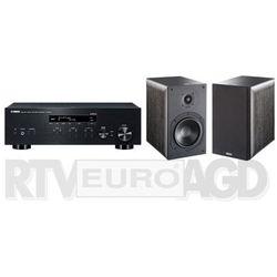 Yamaha MusicCast R-N303D (czarny), Indiana Line Nota 260 X (czarny dąb)