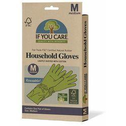 Rękawiczki lateksowe wielorazowe rozmiar m 1 para - If You Care